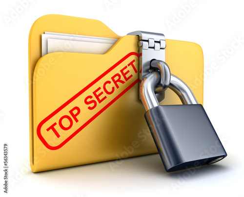 File top secret and lock