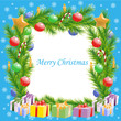 Christmas greetings Christmas tree frame