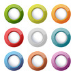 set of bright plastic buttons
