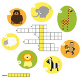 crossword for children - animals solution