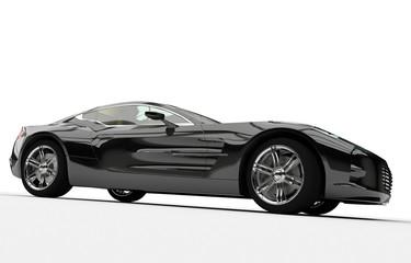 Seitenansicht Sportwagen schwarz