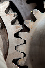 gearwheels in closeup