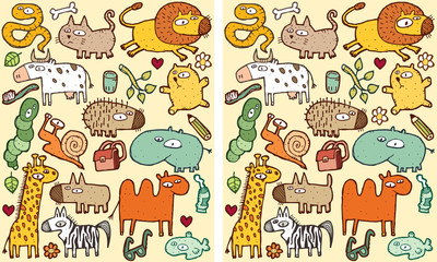 Animals Differences Visual Game