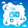 Social network infographic design elements