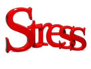 3D Word Stress on white background
