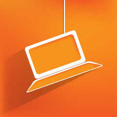 Notebook web icon,flat design