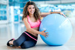 Woman with a fitness ball