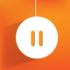 pause web icon, flat design