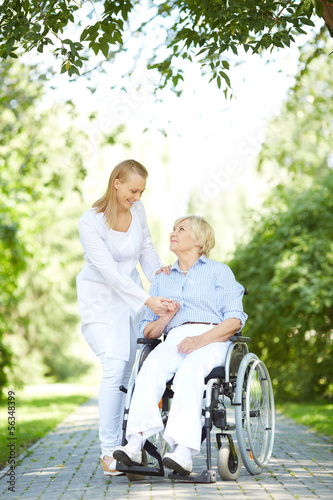 Walking with patient