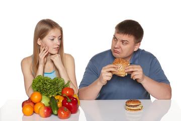 Choosing healthy eating concept