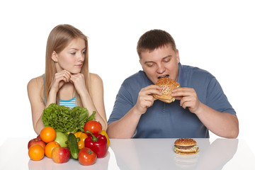 Choosing healthy eating concept
