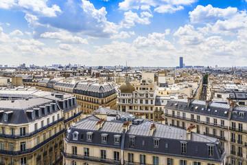 Panoramic view of Paris. France