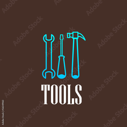 illustration with a tool set