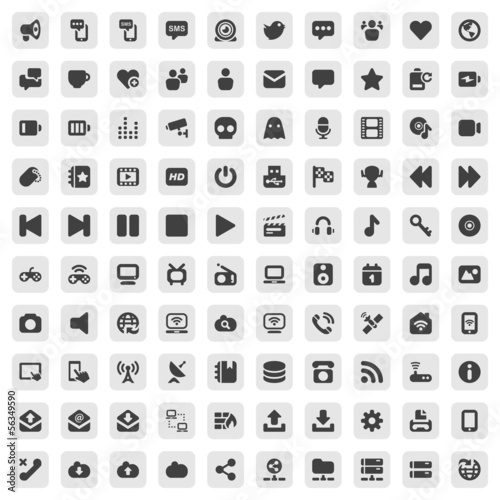 media & communication iconset