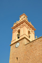 Bell tower in Chilches in Valencia, Spain