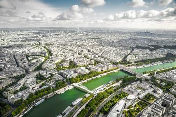 Panorama di Parigi dal 3 piano della Tour Eiffel