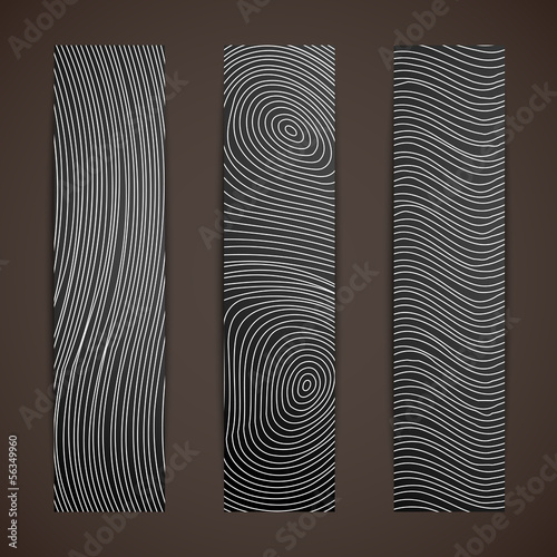 set of banners with abstract lines