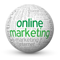 ONLINE MARKETING Tag Cloud Globe (e-mail web viral advertising)