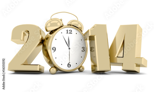 happy new year 2014 Illustrations 3d