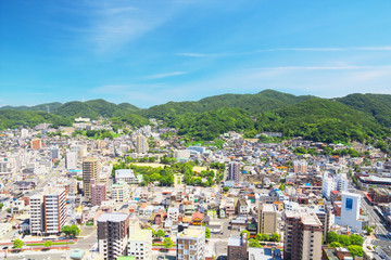 The city view of Moji-ku, Kitakyushu