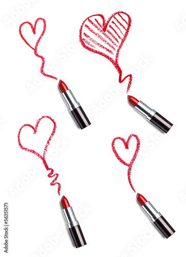 lipstick beauty make up heart love
