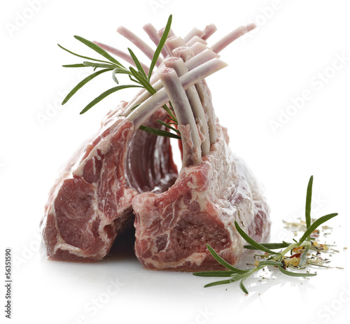 Racks Of Raw Lamb Ribs