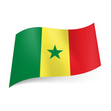 State flag of Senegal.