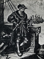Vasco da Gama on his ship