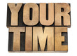 your time in wood type