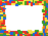 Toy Bricks Picture Frame - Random Colors
