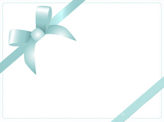 Blue vector gift bow and ribbon