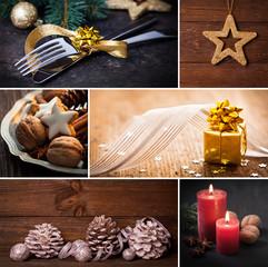 Collage zu Weihnachten
