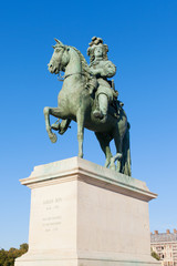 Statue of king Louis XIV, Versailles.