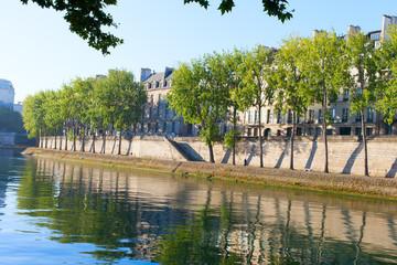 Seine river at Saint Lois island , Paris.