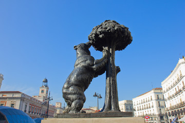 bear with strawberry tree, Madrid, Spain