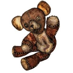 alter Teddybär mit Knopfaugen