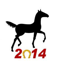 Лошадь символ 2014 года .Векторная иллюстрация
