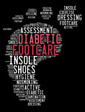 diabetic foot care info word cloud concept