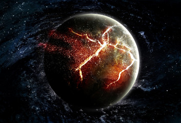 Planet Explosion - Apocalypse - End of The Time