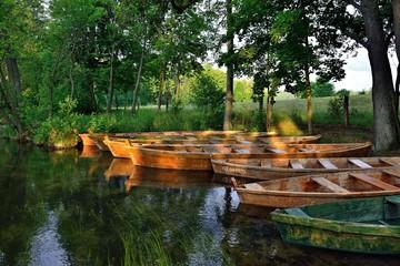 Ruderboote auf der Krutynia | Polen