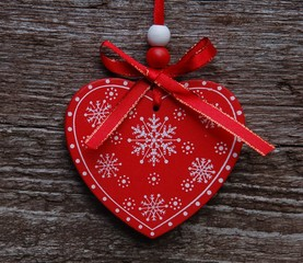 Christmas dekoration red heart