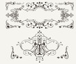 Set Of Vintage Curves Design Elements