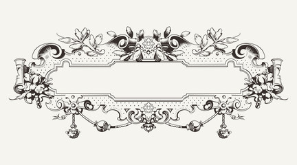 High Ornate Vintage Horizontal Banner