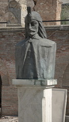 Bust of Vlad III Dracula, Old Princely Court, Bucharest