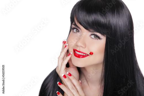 Fototapeten,brünett,schwarz,hairstyle,haircare