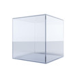Empty glass cube - 56359925