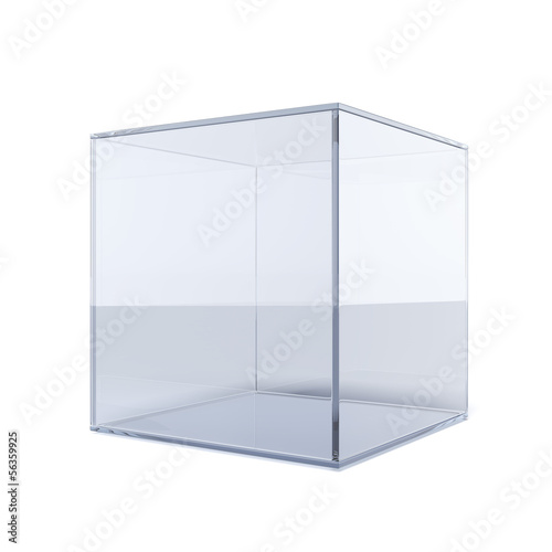 Empty glass cube