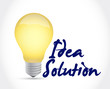 idea solution light bulb illustration design