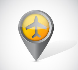 airplane transportation pointer illustration