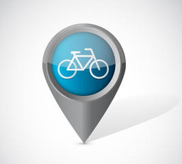 bike transportation pointer illustration